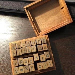 alphabet stamps, lower case
